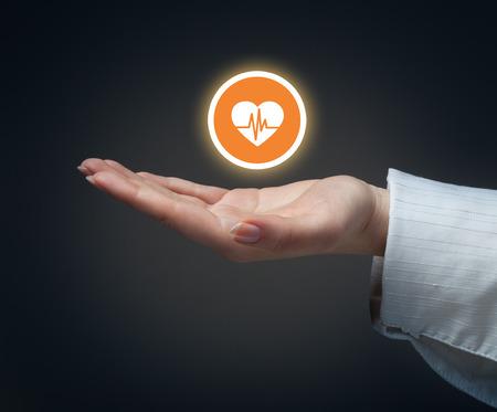 L'assurance maladie ou d'un concept de l'amour Banque d'images