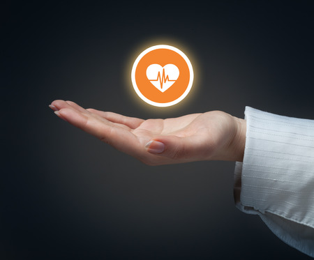 Health insurance or love concept Stockfoto