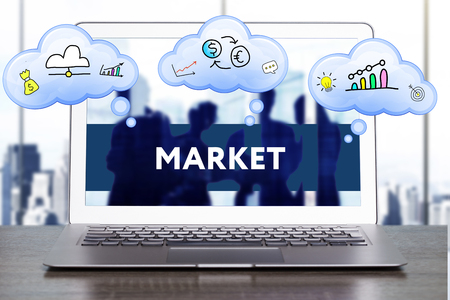 technology market: Marketing Strategy. Planning Strategy Concept. Business, technology, internet and networking concept. Market