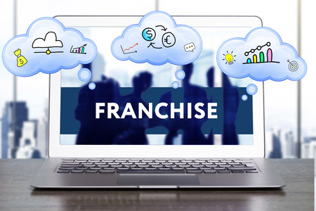 franchising: Marketing Strategy. Planning Strategy Concept. Business, technology, internet and networking concept. Franchise Stock Photo