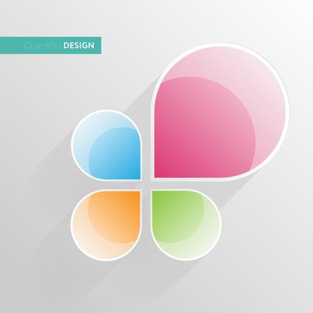Vector logo concept illustration. Business logo design vector.
