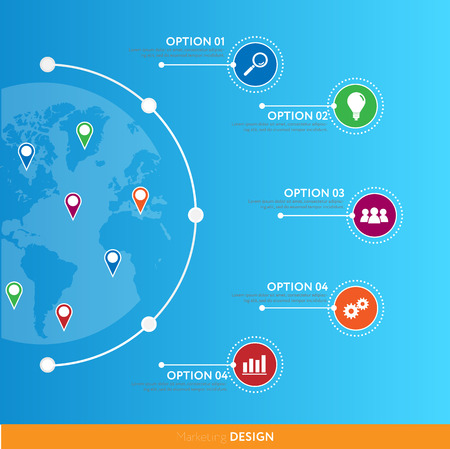 Modern infographics. Vector. Can be used for workflow layout, banner, diagram, web design.