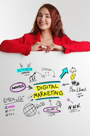 The concept of business, technology, the Internet and the network. Marketing concept Imagens