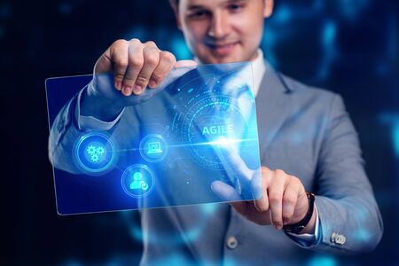 Business, Technology, Internet and network concept. Agile Software Development. Stock Photo - 134507497