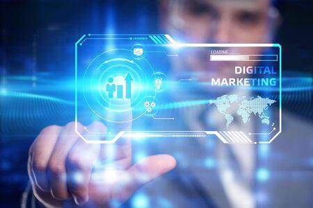 Concept d'entreprise, de technologie, d'Internet et de réseau. Concept de stratégie publicitaire de planification de contenu de marketing numérique.
