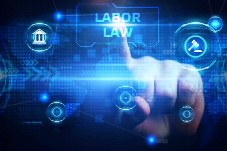 Business, Technology, Internet and network concept. Employment Law.