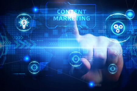 Business, Technology, Internet and network concept. Digital Marketing content planning advertising strategy concept. Stock Photo