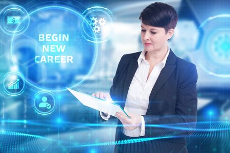Business, Technology, Internet and network concept. Begin new career Banque d'images - 138166315