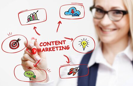 Business, Technology, Internet and network concept. Digital Marketing content planning advertising strategy concept. Banque d'images - 138166093