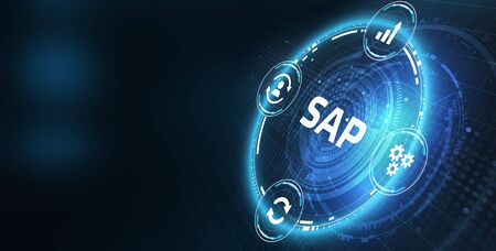 Business process automation software. SAP Stock Photo