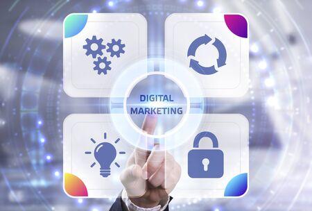 Concept d'entreprise, de technologie, d'Internet et de réseau. Concept de stratégie publicitaire de planification de contenu de marketing numérique Banque d'images