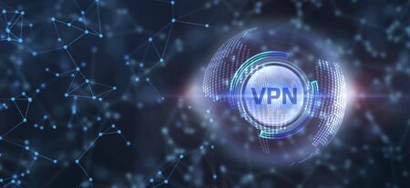Business, Technology, Internet and network concept. VPN network security internet privacy encryption concept.