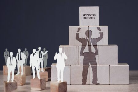 Business, Technology, Internet and network concept. Shows the inscription: EMPLOYEE BENEFITS