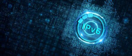 Business, Technology, Internet and network concept. IPV6 abbreviation.Modern technology concept. Standard-Bild
