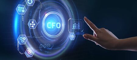 CFO - digital technology concept. Business, Technology, Internet and network concept.