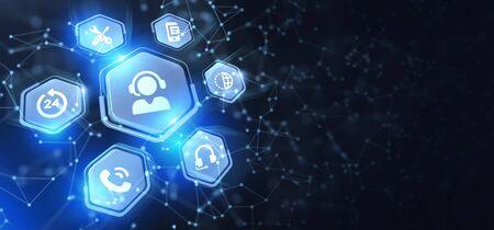 Concept d'entreprise, de technologie, d'Internet et de réseau. Service client d'assistance technique. Banque d'images