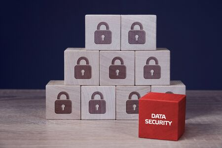 Privacy and personal data protection concept. Business, technology, internet and networking concept. Data security