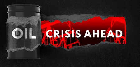 Crisis ahead concept for financial problems, risk and economic depression.