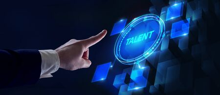 Open your talent and potential. Talented human resources - company success 版權商用圖片