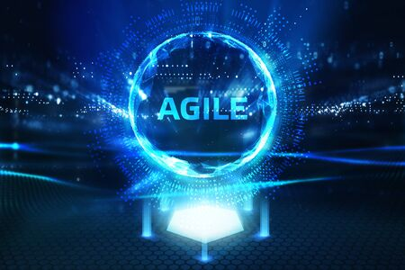 Business, Technology, Internet and network concept. Agile Software Development. Фото со стока