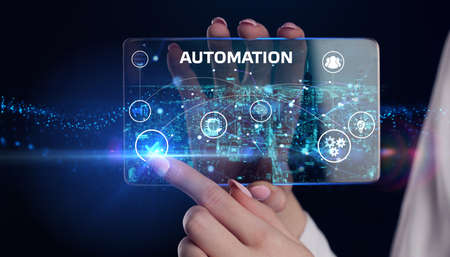 Automation Software concept as an innovation. Business, Technology, Internet and network concept