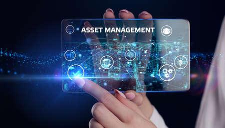 Asset management. Business, Technology, Internet and network concept.