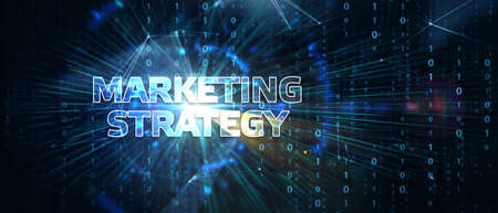 Business, Technology, Internet and network concept. Digital Marketing content planning advertising strategy concept. 스톡 콘텐츠