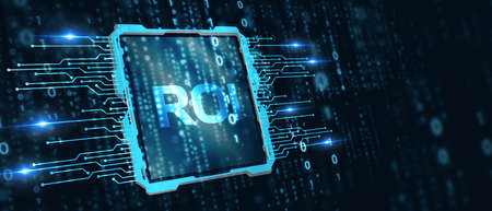 Business, Technology, Internet and network concept. ROI Return on Investment Finance Profit Success.
