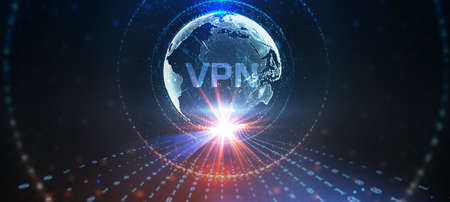 Business, Technology, Internet and network concept. VPN network security internet privacy encryption concept. Archivio Fotografico