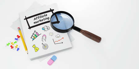 AFFILIATE MARKETING. Business, Technology, Internet and network concept.