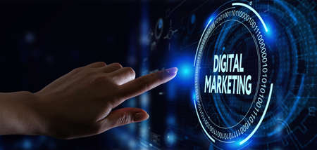 Business, Technology, Internet and network concept. Digital Marketing content planning advertising strategy concept.