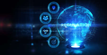 Business, Technology, Internet and network concept. Regulation Compliance Rules Law Standard