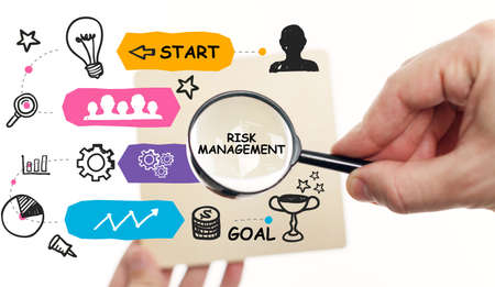 Risk Management and Assessment for Business Investment Concept. Business, Technology, Internet and network concept.