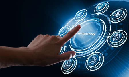 Automation Software concept as an innovation. Business, Technology, Internet and network concept.