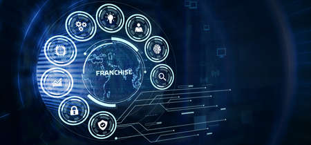 Franchise concept. Business, Technology, Internet and network concept.