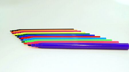 cyan business: set of colored felt-tip pens