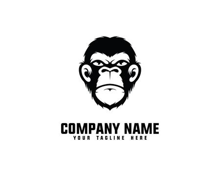 Ape Head Logo Banque d'images - 69776324