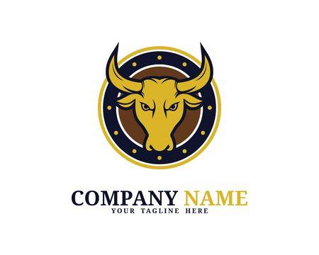 Bull Head Circle Logo