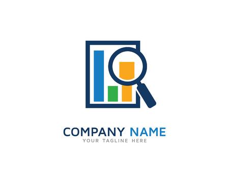 Business News Search Logo Illustration