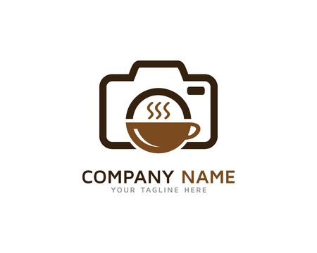 Cafe Restaurant Photography Logo Ilustracja