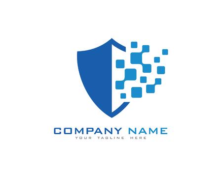 Digital Data Shield Security Logo