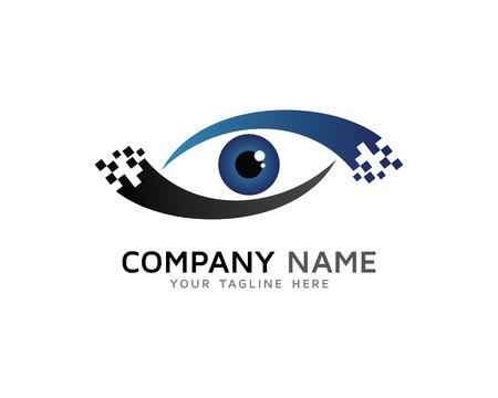digital eye: Digital Eye Vision Solution Logo Illustration