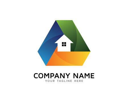 Property Solution Logo Illustration