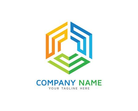 미로 큐브 디자인 로고