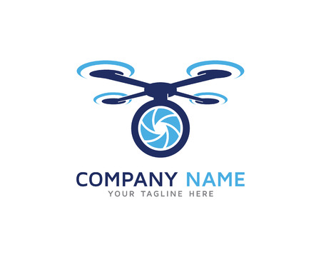 Aerial Drone Camera Photography Logo Illustration
