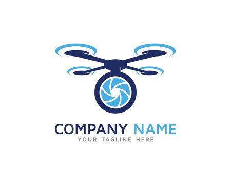 Aerial Drone Camera Photography Logo Vettoriali
