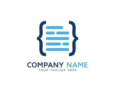 Source Code Tutorial Logo 向量圖像