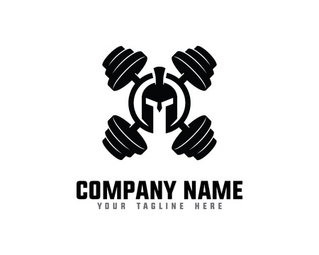Spartan Fitness And Gym Logo 向量圖像