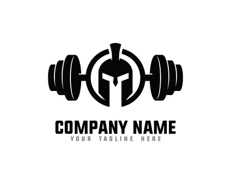 Spartan Fitness And Gym Logo Ilustrace