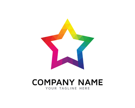 Creativo del logotipo del arco iris de la estrella Logos